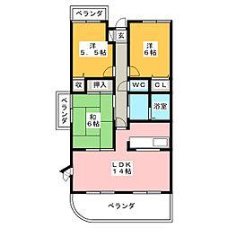 グランフォルム茅参番館[2階]の間取り