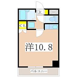 President荒田八幡[701号室]の間取り