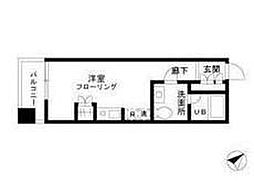 東京都中央区築地6丁目の賃貸マンションの間取り