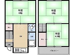 [一戸建] 大阪府大阪市都島区内代町3丁目 の賃貸【/】の間取り