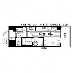 Uni Apartner 6番館[食事付き](仮称:UniL 3階1Kの間取り