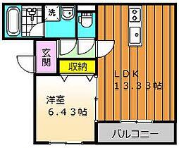 REIWAマンション 3階1LDKの間取り