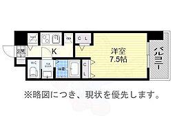 S-RESIDENCE黒川2 11階1Kの間取り