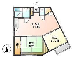 メゾン赤坂[1階]の間取り
