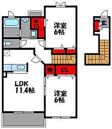 ジュネスメゾン[2階]の間取り