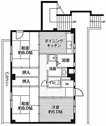 神奈川県横浜市旭区川井宿町の賃貸マンションの間取り