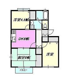 ハイツミキ[2階]の間取り