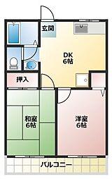 ファミリーコーポヤシマ[202号室]の間取り