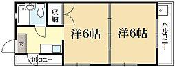 マンション大和[4階]の間取り