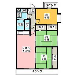 八事石坂マンション[5階]の間取り