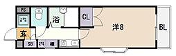 小阪パームコート[4階]の間取り