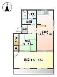 愛知県海部郡大治町大字東條字砂島の賃貸アパートの間取り