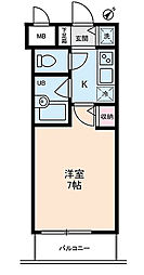東京都江東区富岡1丁目の賃貸マンションの間取り