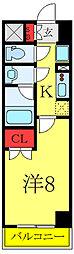 (仮称)レオーネ高島平 5階1Kの間取り