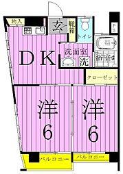 第一江川ビル[301号室]の間取り