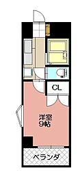 KMマンション八幡駅前III[813号室]の間取り