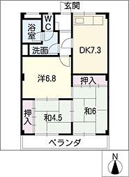 コーポKATOH[2階]の間取り