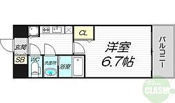 べラジオ三国駅前 7階1Kの間取り