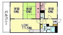 セントレージ博多[3階]の間取り