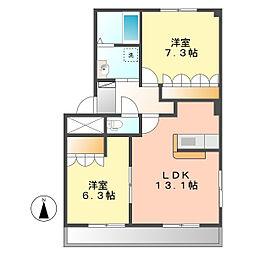 マローネハウゼ[2階]の間取り