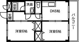 アンダンテ辰巳[3階]の間取り