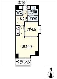 ベル・プラウド名駅[4階]の間取り