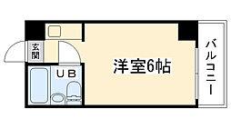 大阪府大阪市東成区神路3丁目の賃貸マンションの間取り