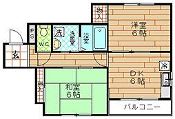 かどマンション[3階]の間取り