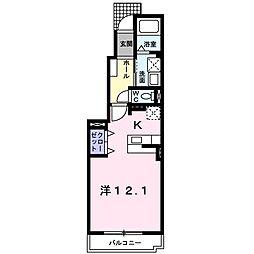 カーサ・フィオーレ[1階]の間取り