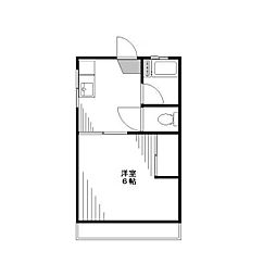 東京都北区志茂3丁目の賃貸アパートの間取り