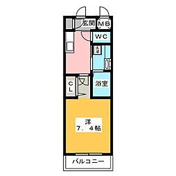 ダ・ヴィンチコート[1階]の間取り