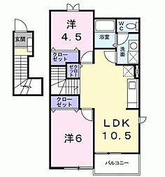 グレイスフル高蔵[2階]の間取り
