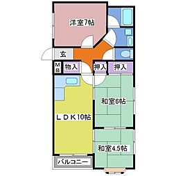 東二見MCマンション[2階]の間取り