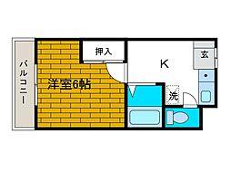 シャルムメゾン[2階]の間取り