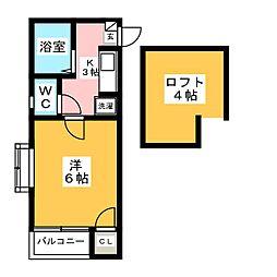 スッドヴェント[1階]の間取り