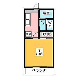 ビューテラス国吉田[2階]の間取り