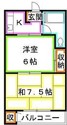 平田荘[2階]の間取り