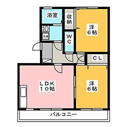 イストワール[3階]の間取り