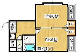 パレロイヤル堺[2階]の間取り