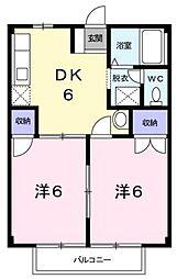 ニューシティ富士 B棟[2階]の間取り