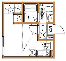 ハーミットクラブハウス京急弘明寺[1階]の間取り