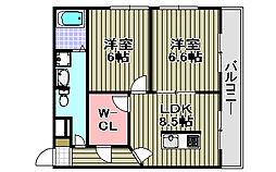 センティーレ和泉[201号室]の間取り
