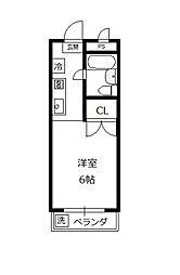 サンハイム石坂[305号室]の間取り