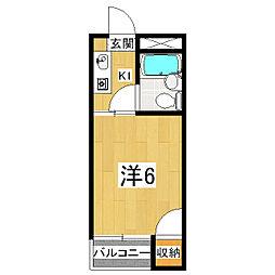 稲穂ハイツ[3階]の間取り