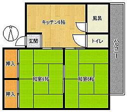フレーズ高田[2階]の間取り