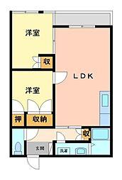 アイホームズマンション[2階]の間取り