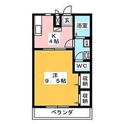 ピュアコート・すみれ[203号室]の間取り