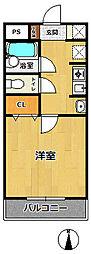 ステラハウス4-100[1階]の間取り
