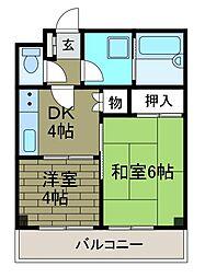 スターハイツ小田急相模原[4階]の間取り