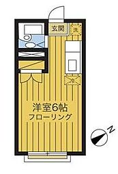 東京都町田市金森1丁目の賃貸アパートの間取り